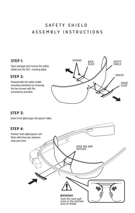 Safety Shield Assembly Instructions