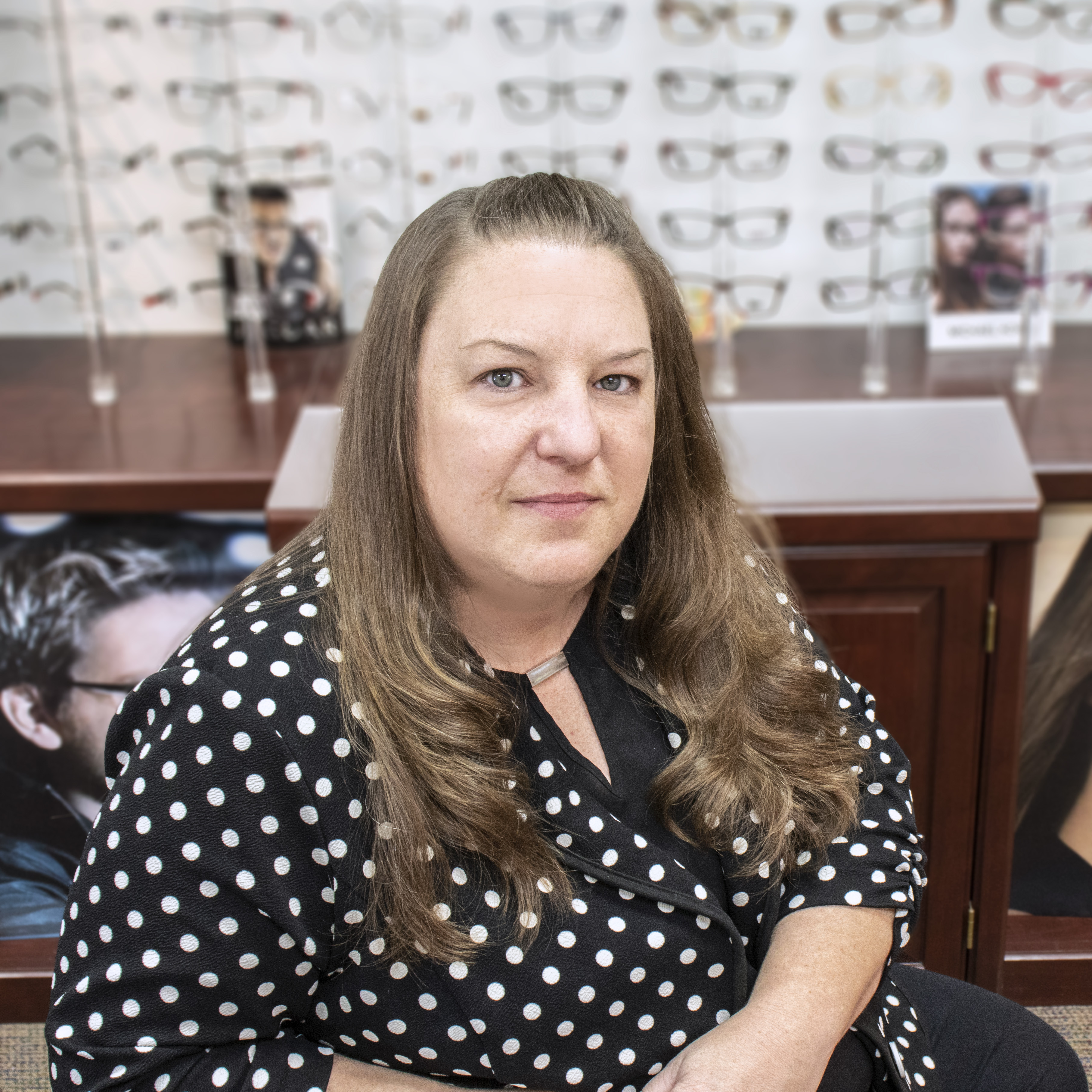 Photo of Debbi Martini, NYS Licensed Optician and Retail Director of Rochester Optical