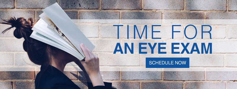 Banner to schedule an eye exam at Rochester Optical